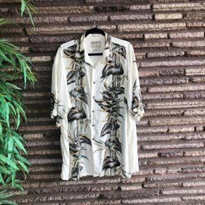 Mens Hawaiian Anthurium Floral Relaxed Fit Shirt